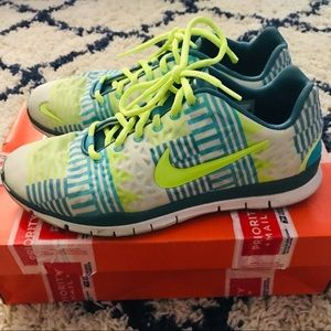 Nike Free Volt Blue White Design Athletic Shoes